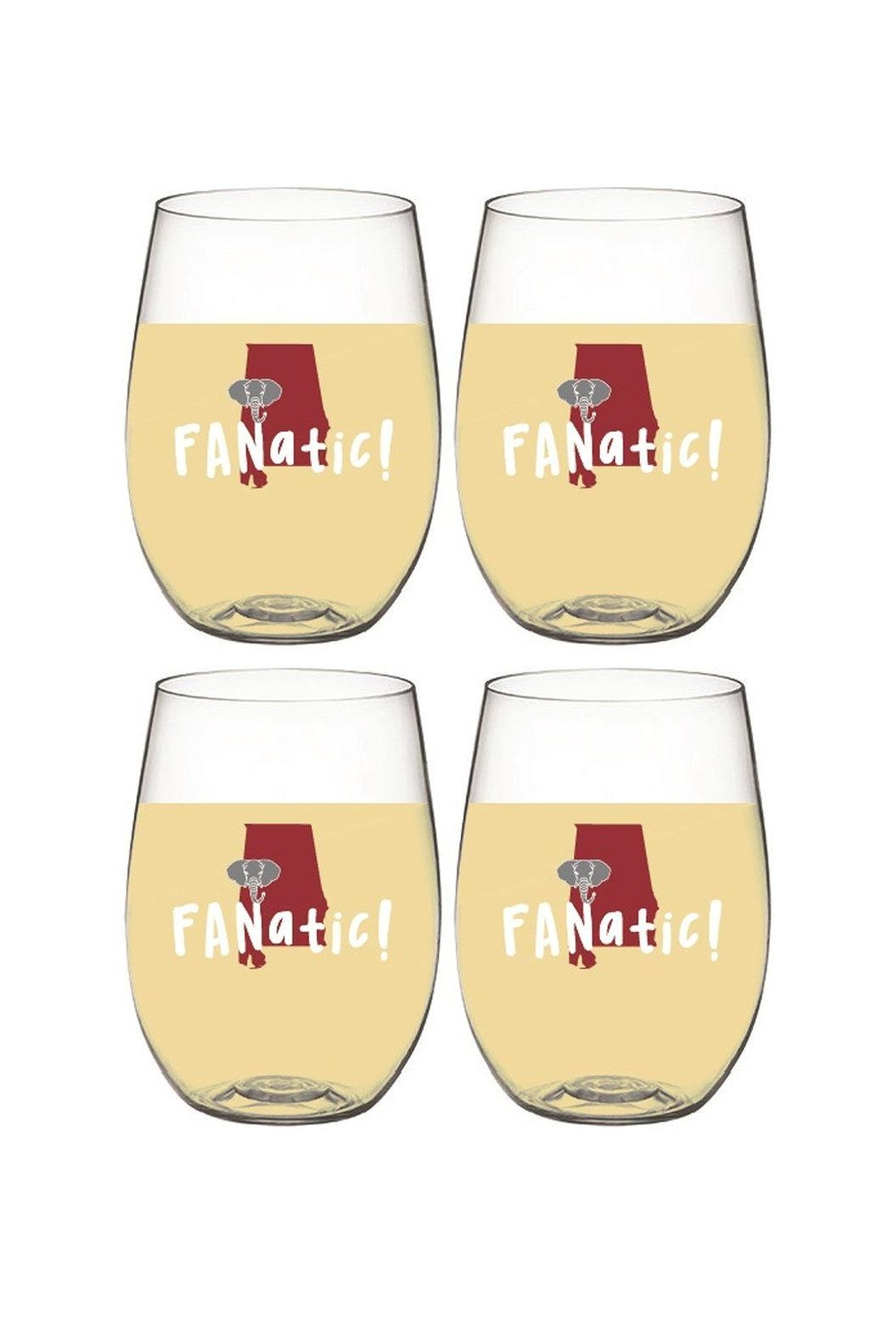 Wine-Oh Alabama  Wine Glasses - Front Cropped Image