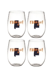 Wine-Oh Auburn Wine Glasses - Front cropped