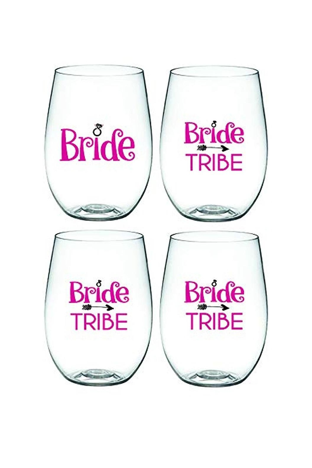 Wine-Oh Bridal Wine Glasses - Main Image