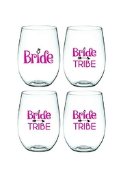 Wine-Oh Bridal Wine Glasses - Front cropped