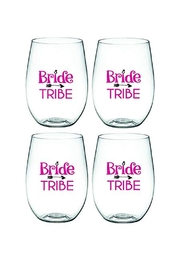 Wine-Oh Bride Tribe Glasses - Front cropped