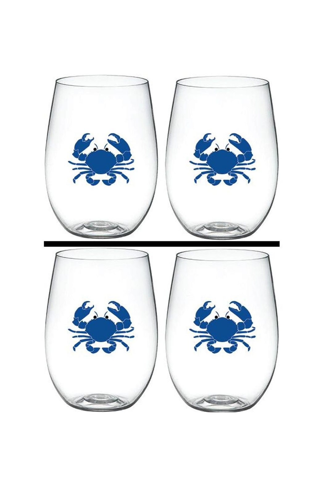 Wine-Oh Crab Wine Glasses - Front Cropped Image