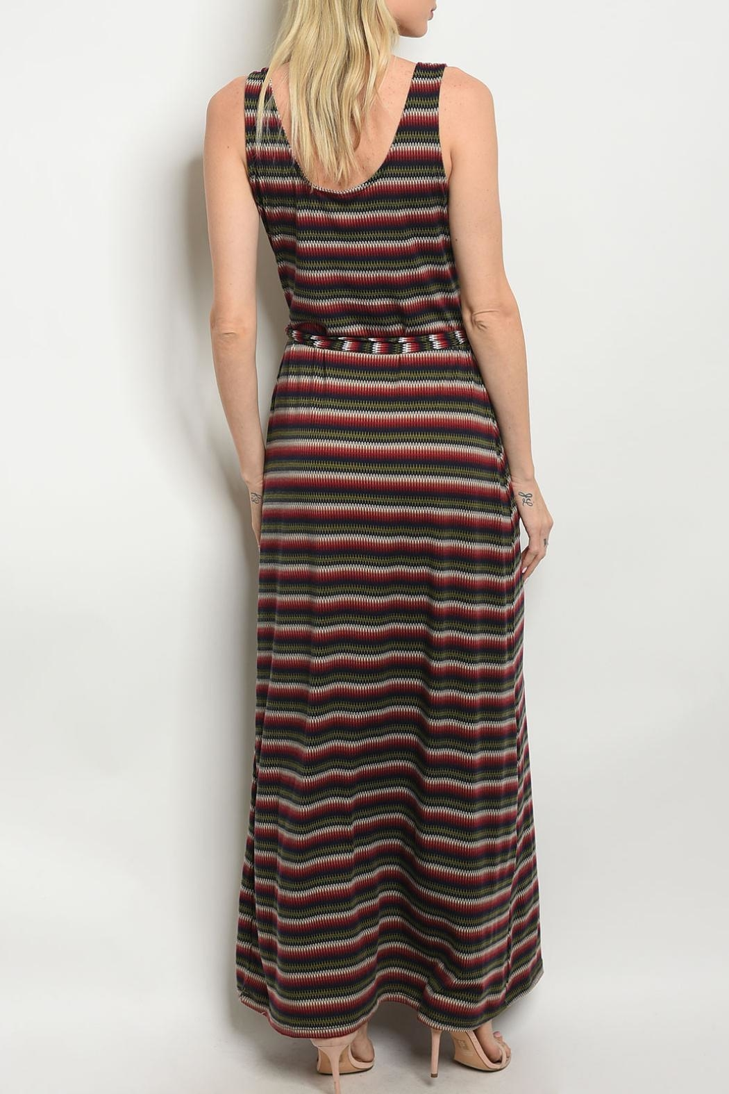 Gilli Wine Olive Dress - Front Full Image