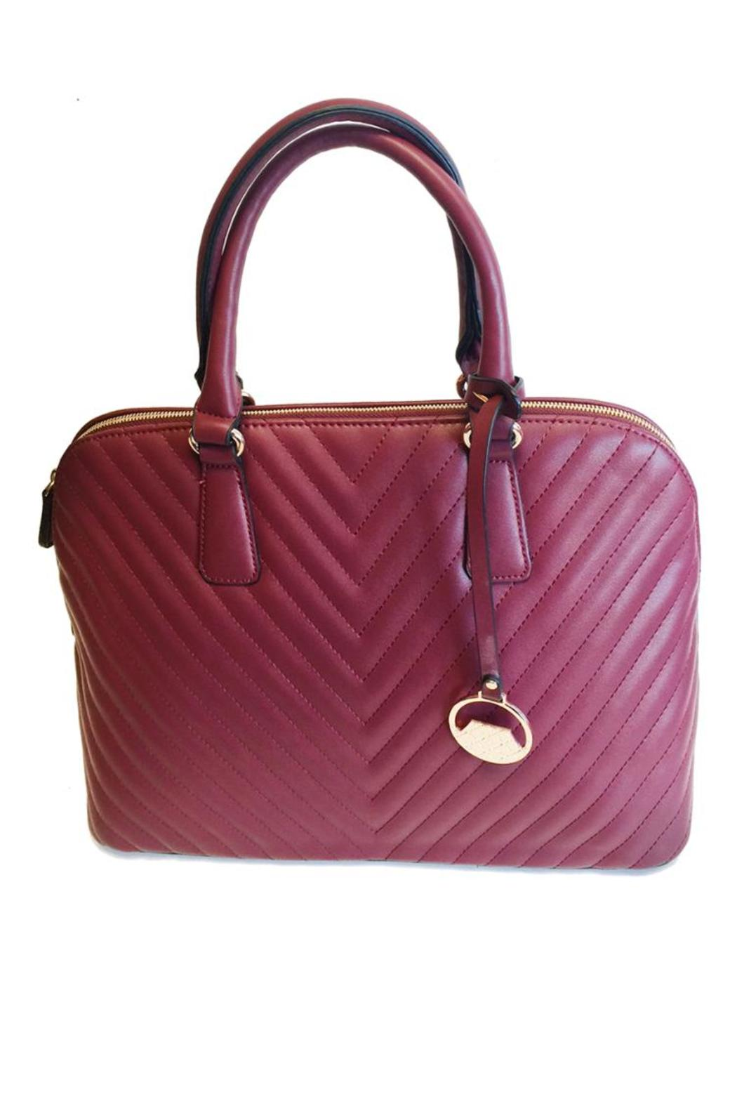 Wine Quilted Handbag From Las Vegas By Glam Squad Shop