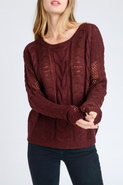 Shoptiques Product: Wine Round-Neck Sweater