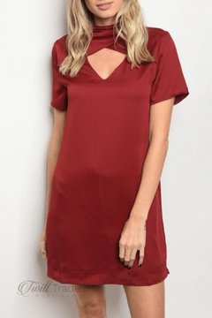 LoveRiche Wine Shift Dress - Product List Image