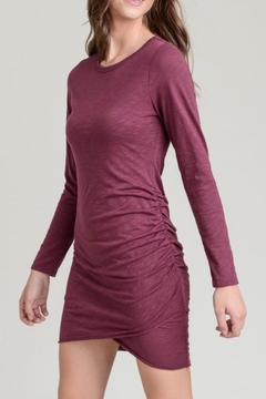 Shoptiques Product: Wine Side-Ruched Dress