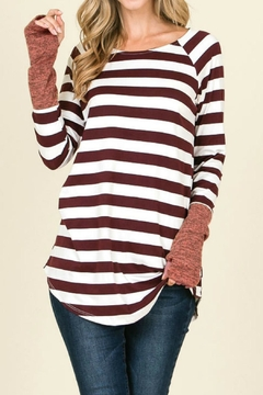 Reborn J Wine Stripe Top - Alternate List Image