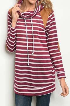 Shoptiques Product: Wine Striped Sweater