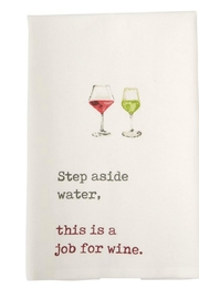 Mud Pie Wine Towels - Front cropped