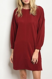 Very J Wine Tunic Dress - Product Mini Image