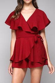 Do & Be Wine Wrap Playsuit - Product Mini Image