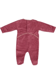 Pounds and Ounces Winered Velour Stretchy - Front full body