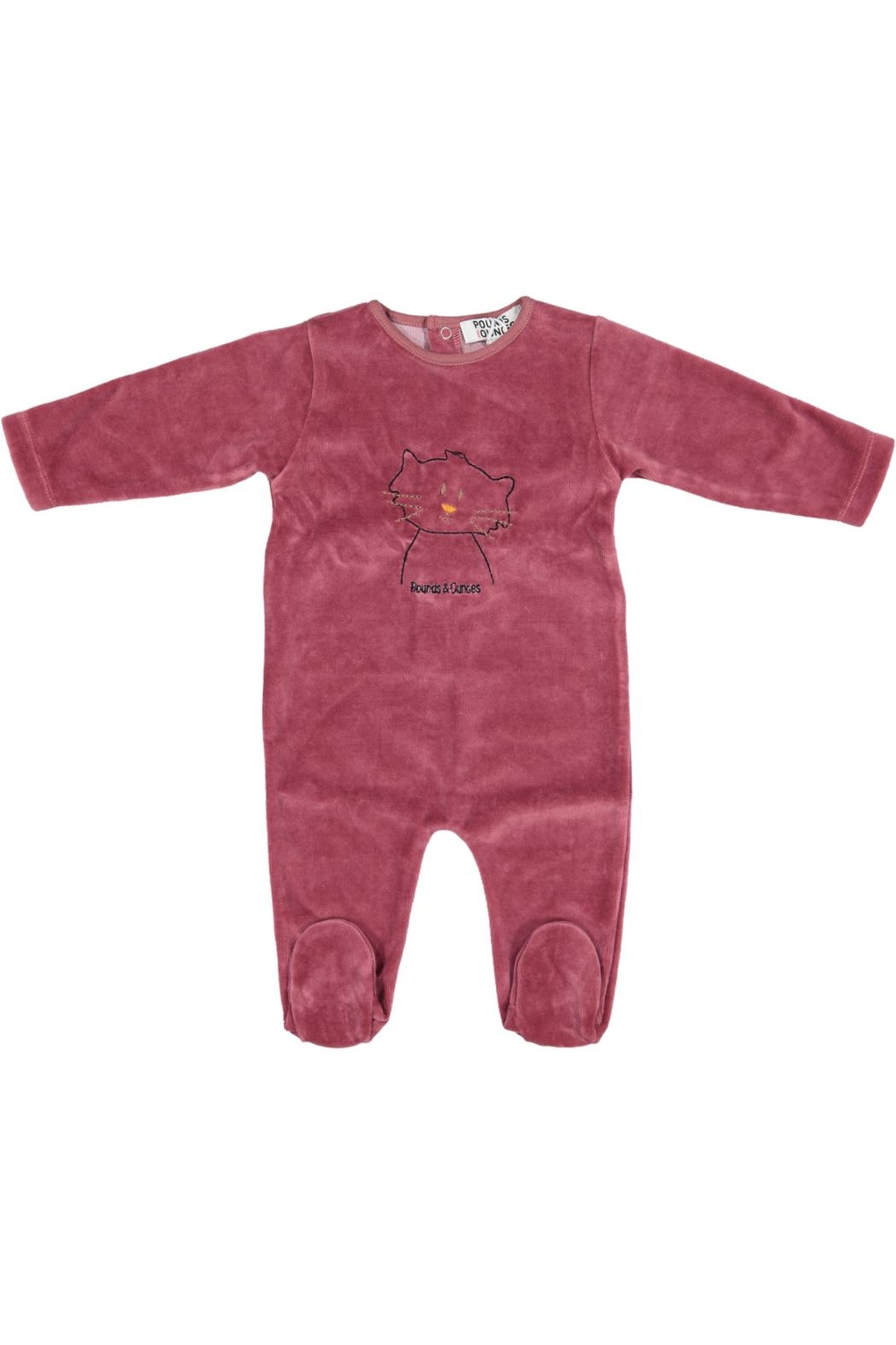 Pounds and Ounces Winered Velour Stretchy - Main Image
