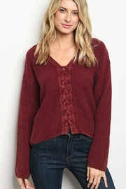 Very J Winewrap Cross Sweater - Product Mini Image
