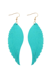 Riah Fashion Wing-Shaped Leather-Hook-Earrings - Product Mini Image