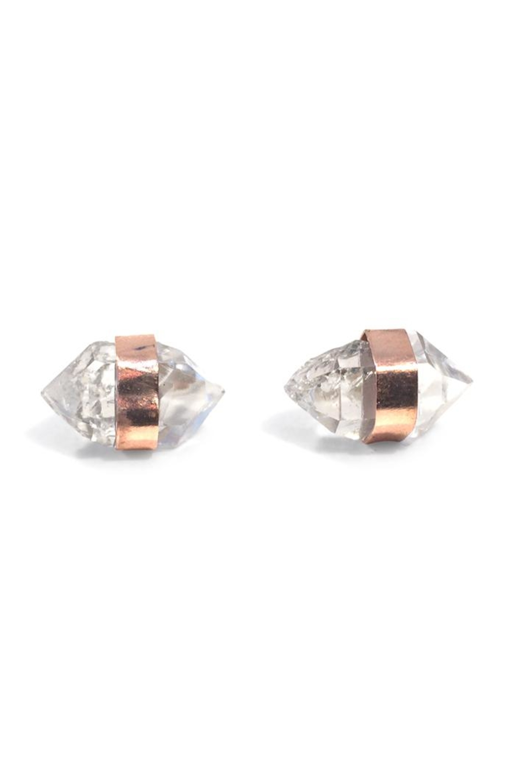 Wings Hawai'i Herkimer Stud Earrings - Front Cropped Image