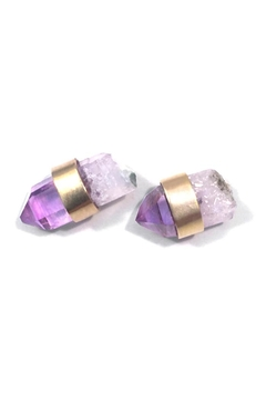 Shoptiques Product: Wrapped Amethyst Studs