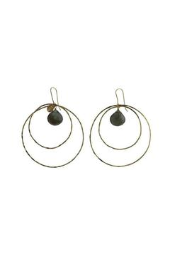 Shoptiques Product: Labradorite Hoop Earrings