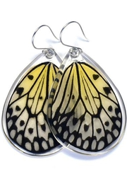 Wingstitution Paperwhite Butterfly Earrings - Product Mini Image