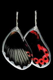 Wingstitution Scarlet Mormon Earrings - Product Mini Image
