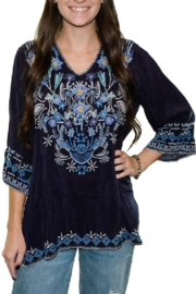 Johnny Was Winkle Blouse - Front cropped