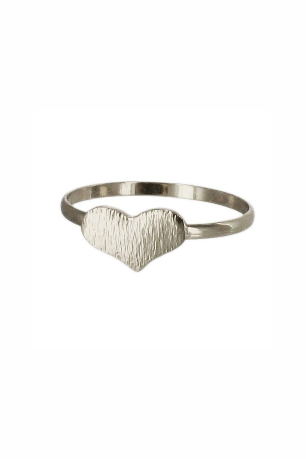 Winky Designs Big Heart Ring - Front Cropped Image