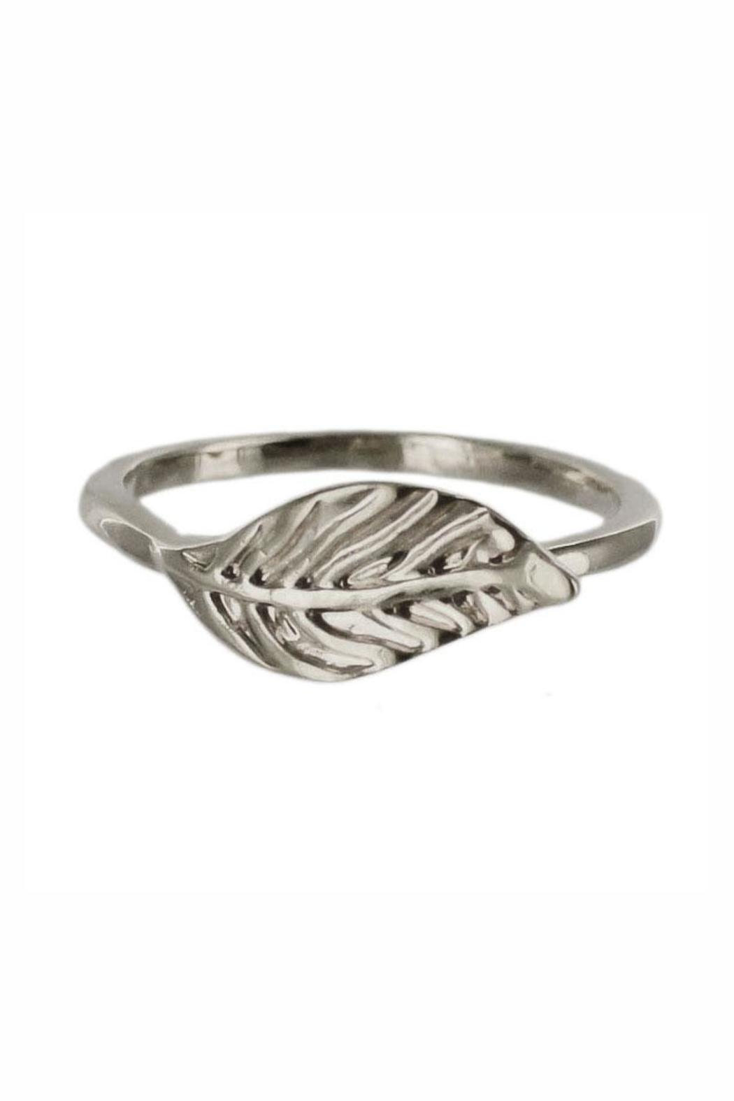 Winky Designs Cute Leaf Ring - Front Cropped Image