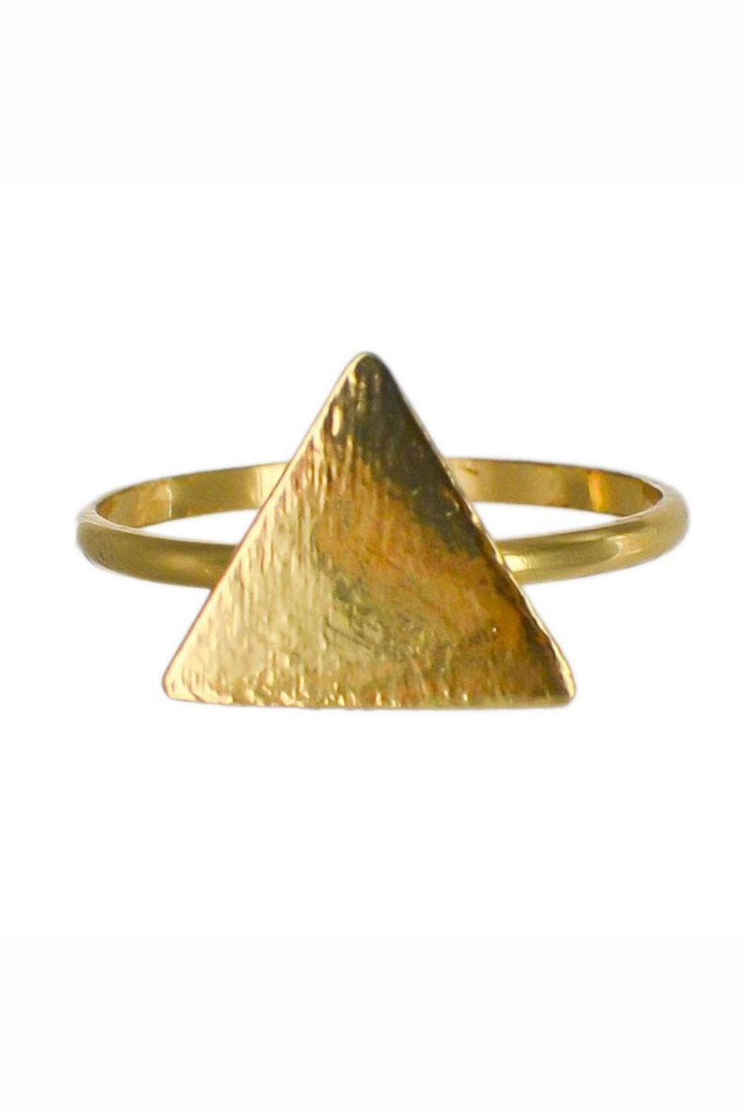 Winky Designs Cute Triangle Ring - Front Cropped Image