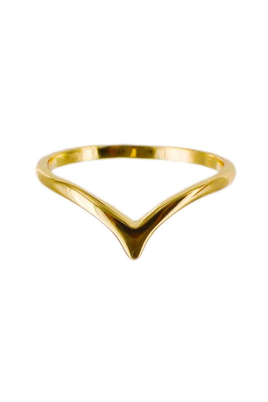Winky Designs Stackable Dainty V-Ring - Main Image