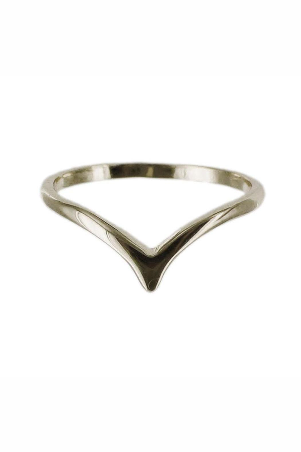 Winky Designs Stackable Dainty V-Ring - Front Full Image