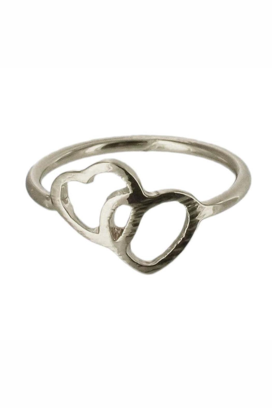 Winky Designs Double Heart Ring - Front Cropped Image