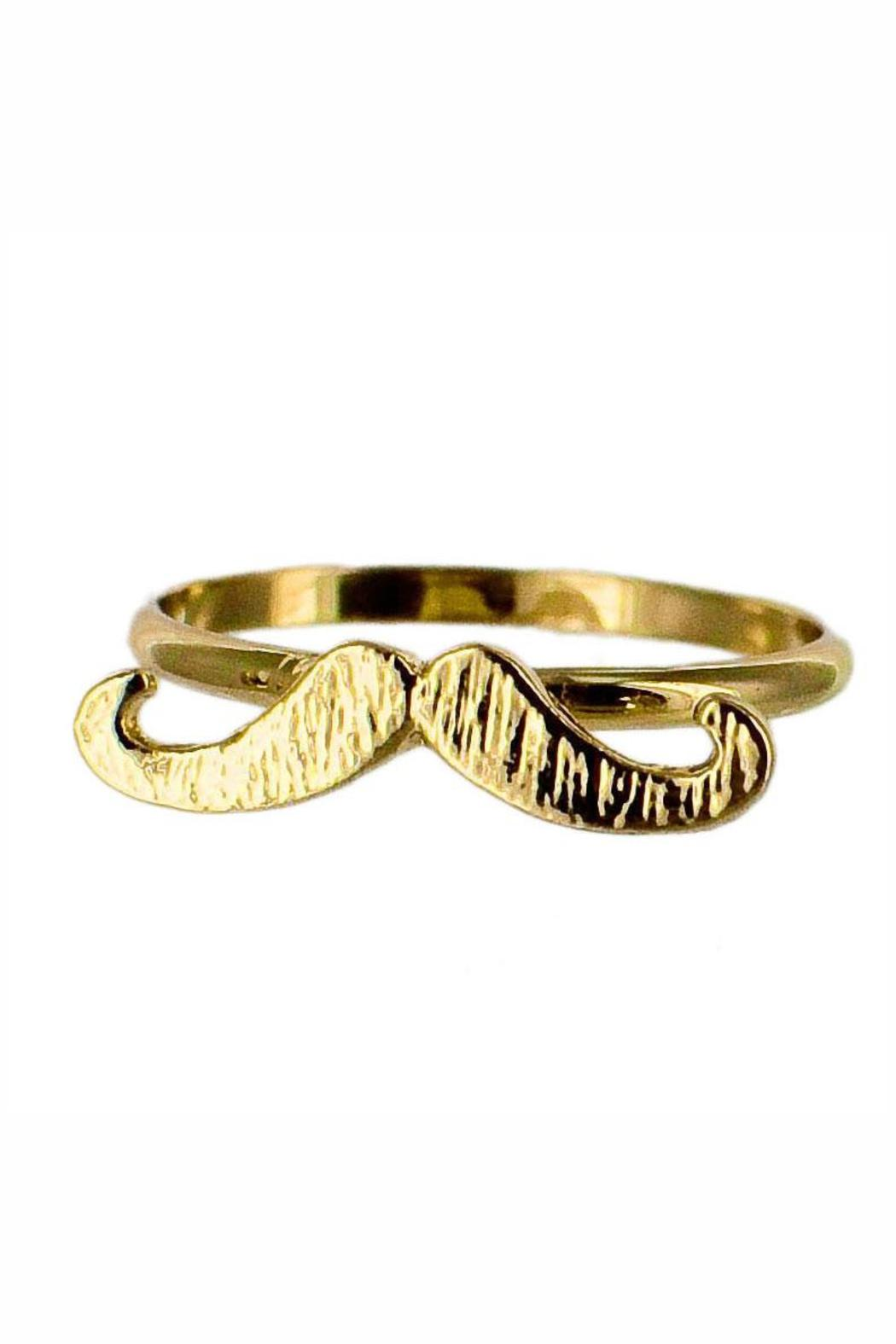 Winky Designs Stackable Moustache Ring - Main Image
