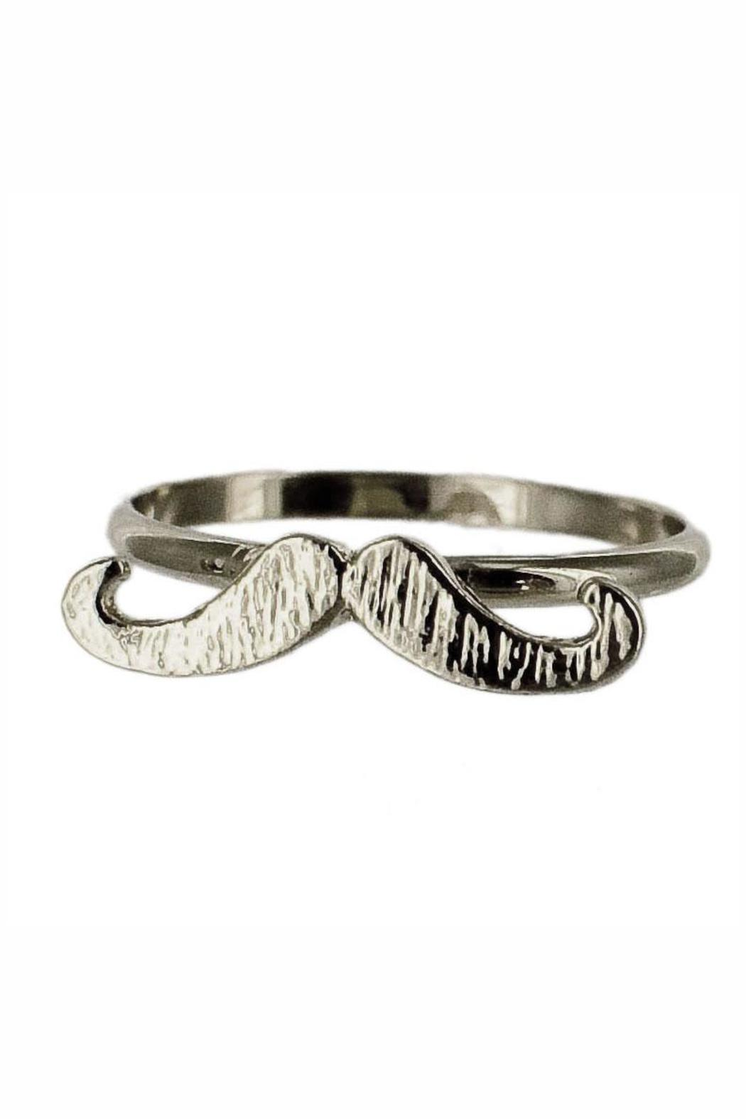 Winky Designs Stackable Moustache Ring - Front Full Image