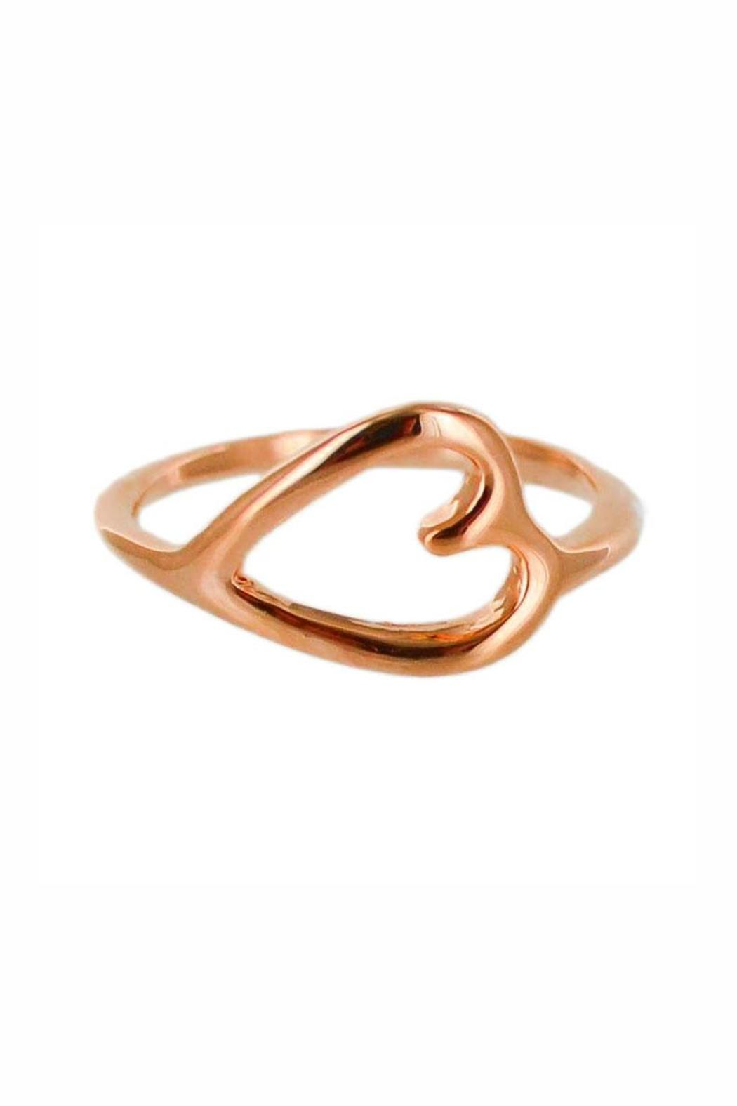 Winky Designs Sideways Heart Ring - Front Cropped Image