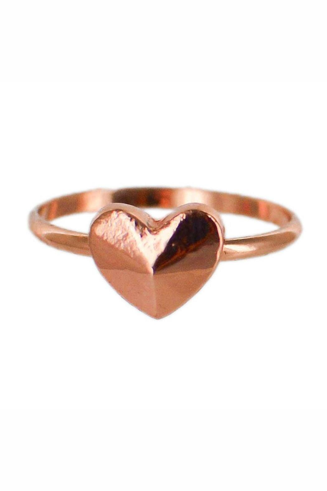Winky Designs Small Heart Ring - Front Cropped Image