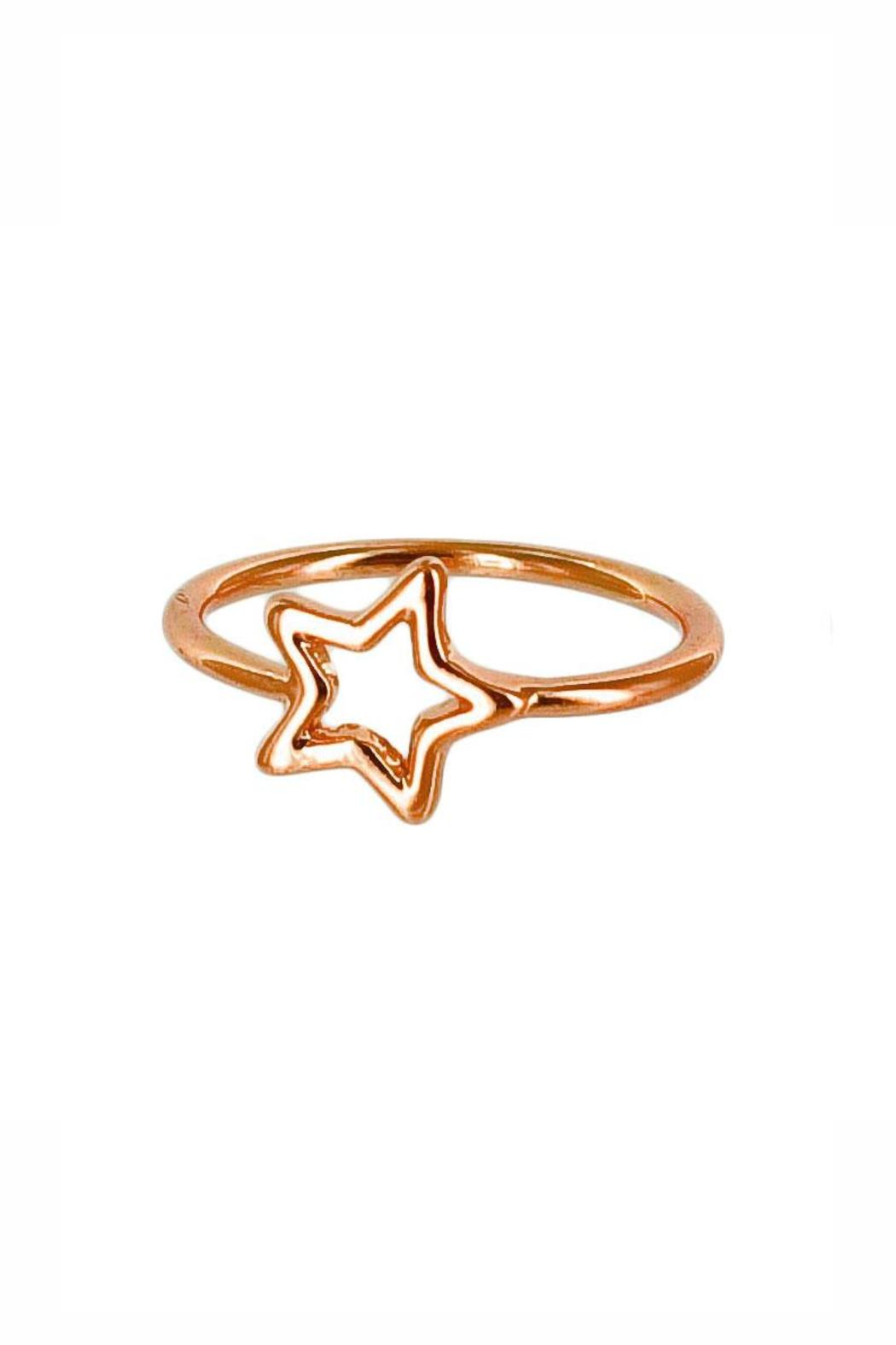 Winky Designs Stars Hollow Ring - Front Cropped Image