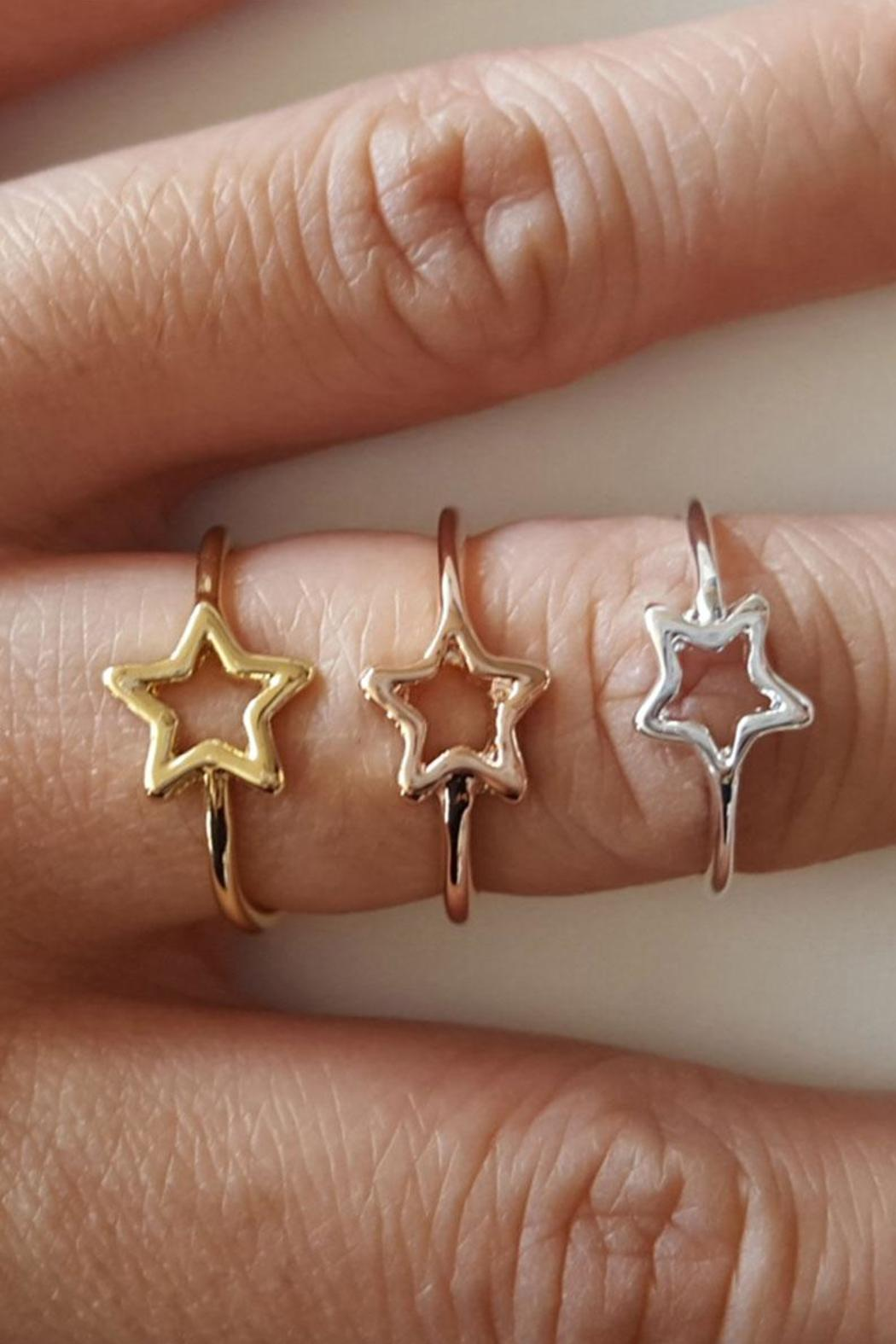 Winky Designs Stars Hollow Ring - Front Full Image