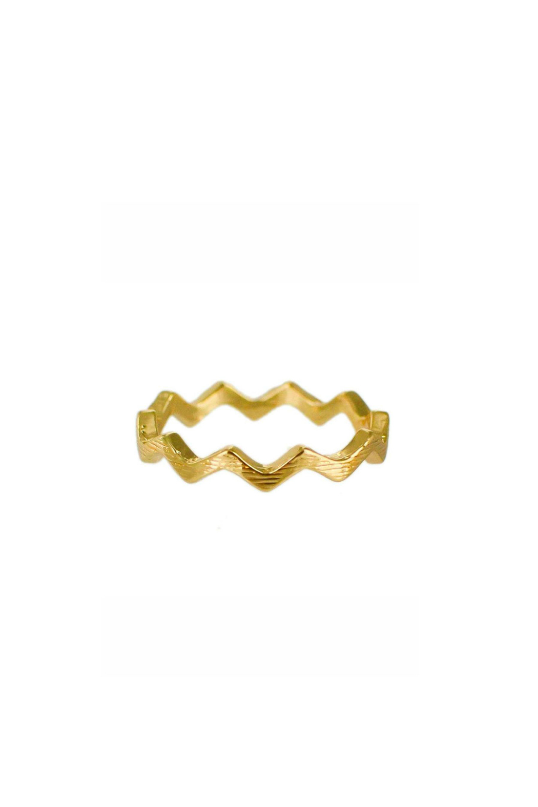 Winky Designs Zig Zag Ring - Front Cropped Image