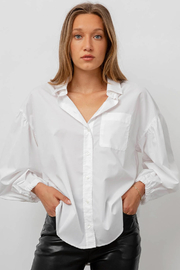 Rails Clothing Winnie Poplin Button Down Top - Front cropped