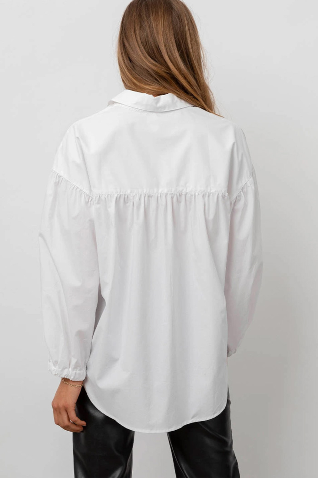 Rails Clothing Winnie Poplin Button Down Top - Back Cropped Image