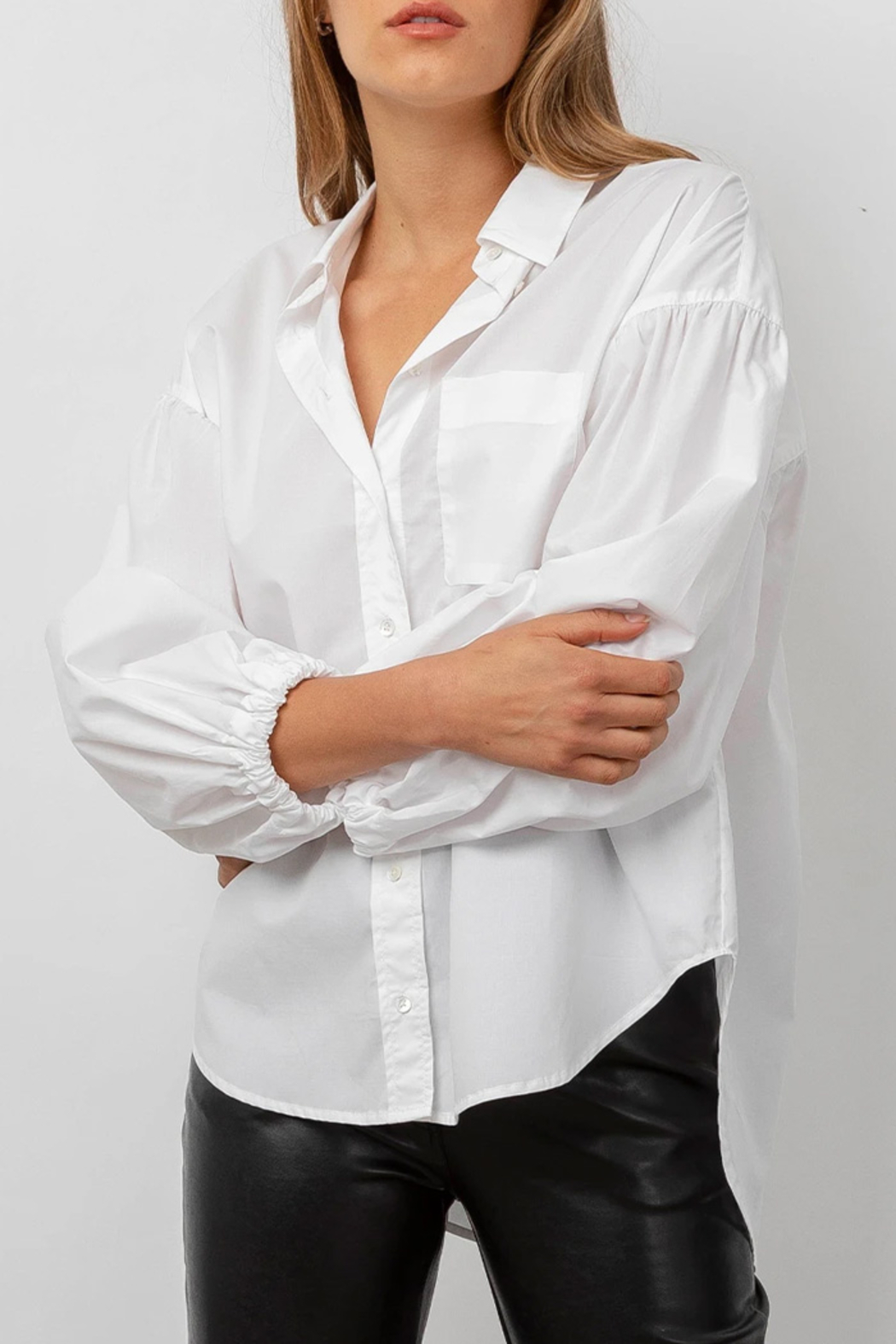 Rails Clothing Winnie Poplin Button Down Top - Front Full Image