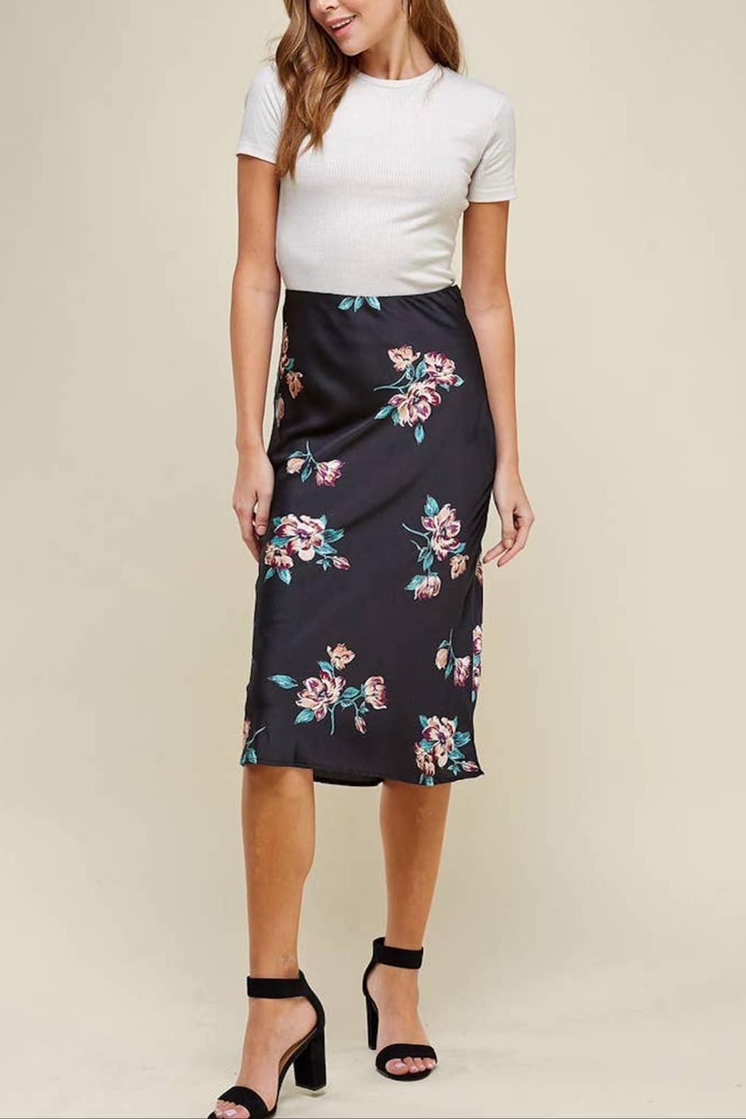 WINSLOW Floral Midi Skirt - Front Full Image