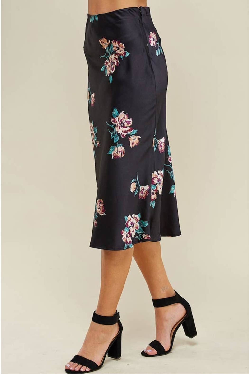WINSLOW Floral Midi Skirt - Back Cropped Image
