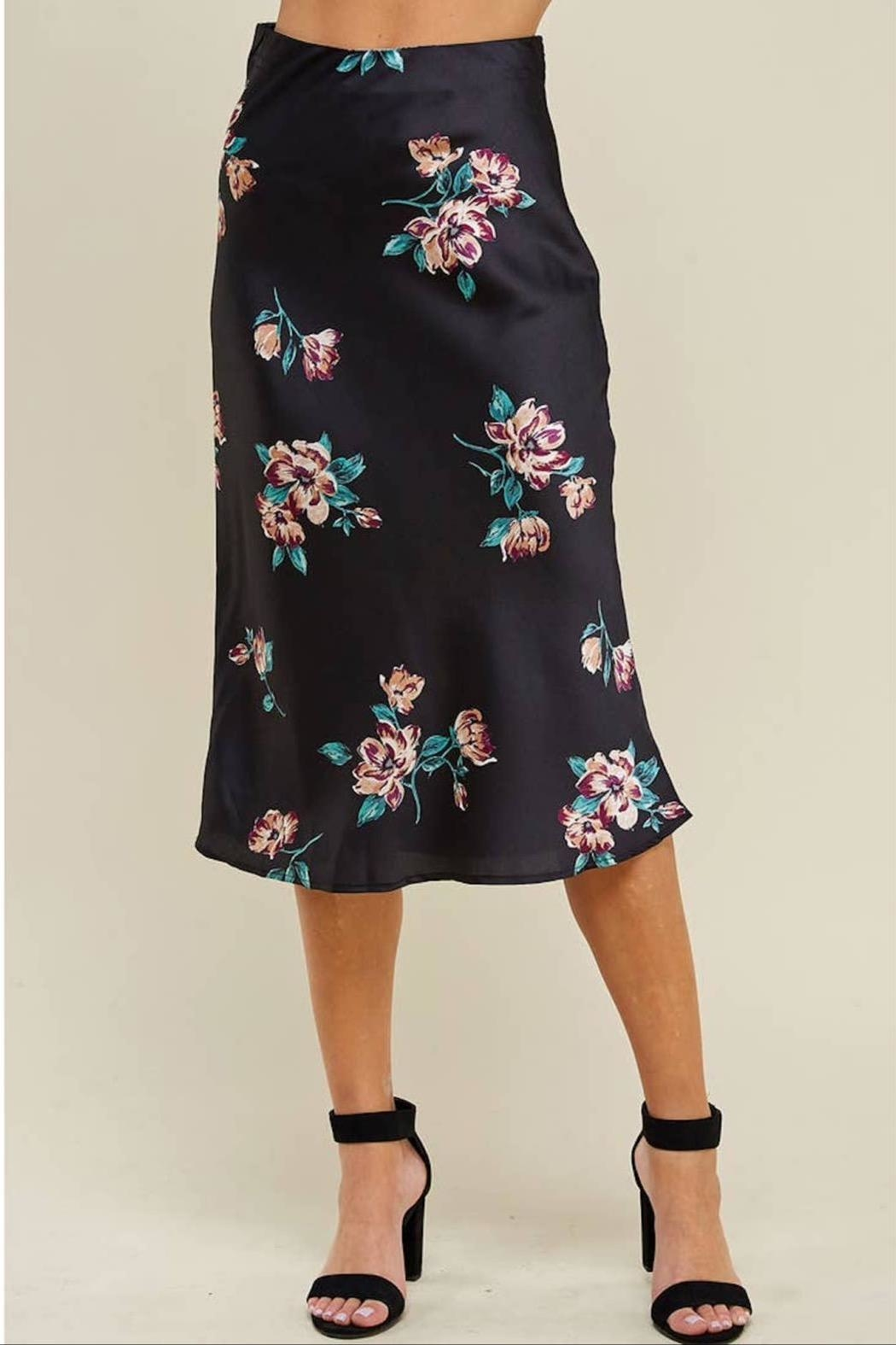 WINSLOW Floral Midi Skirt - Side Cropped Image