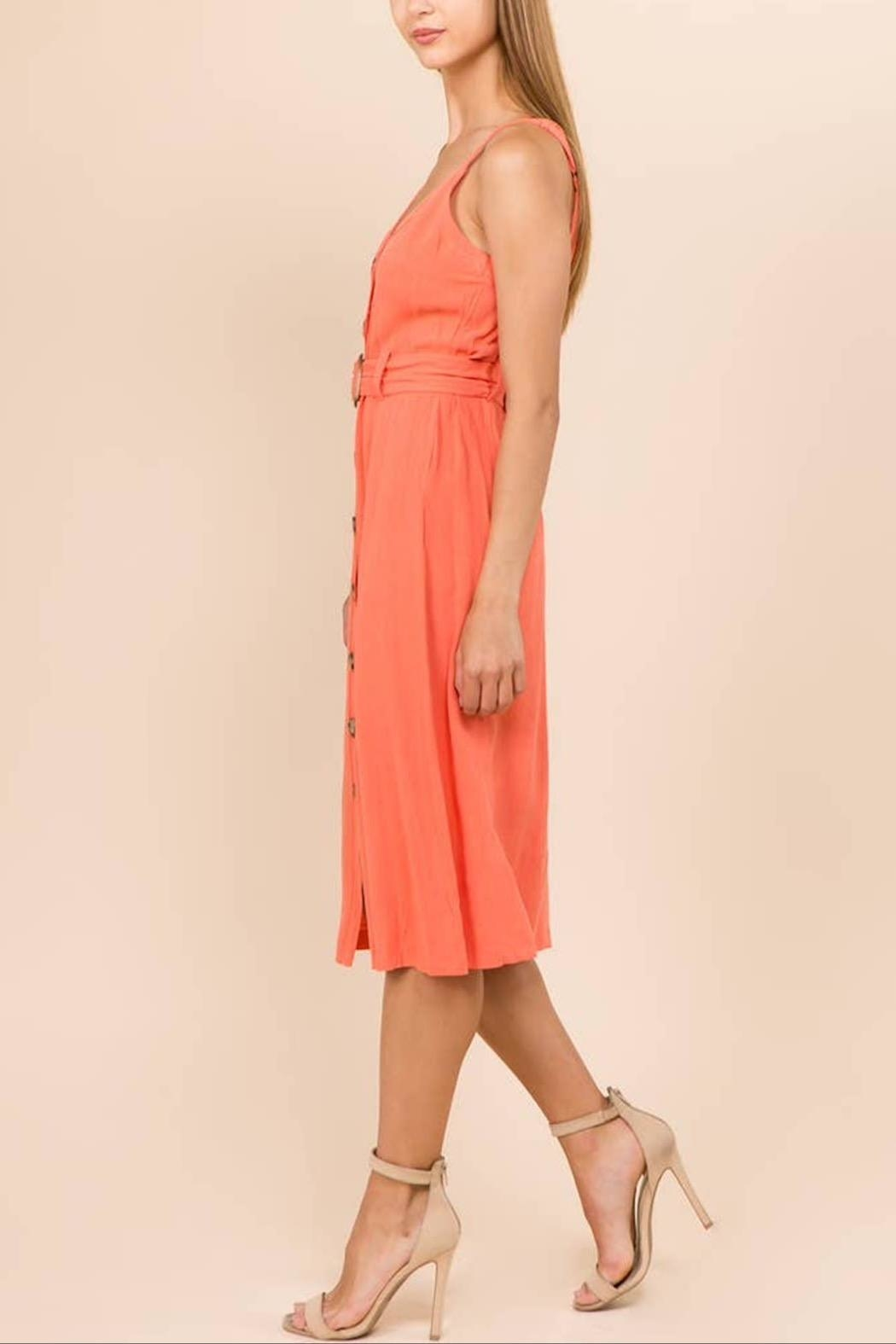 WINSLOW Linen Midi Dress - Side Cropped Image