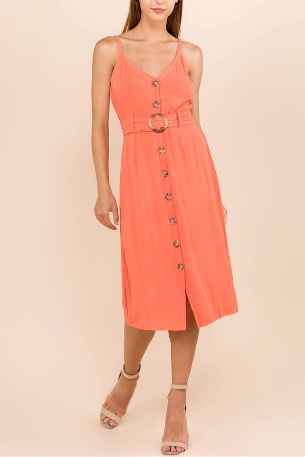 WINSLOW Linen Midi Dress - Front Full Image