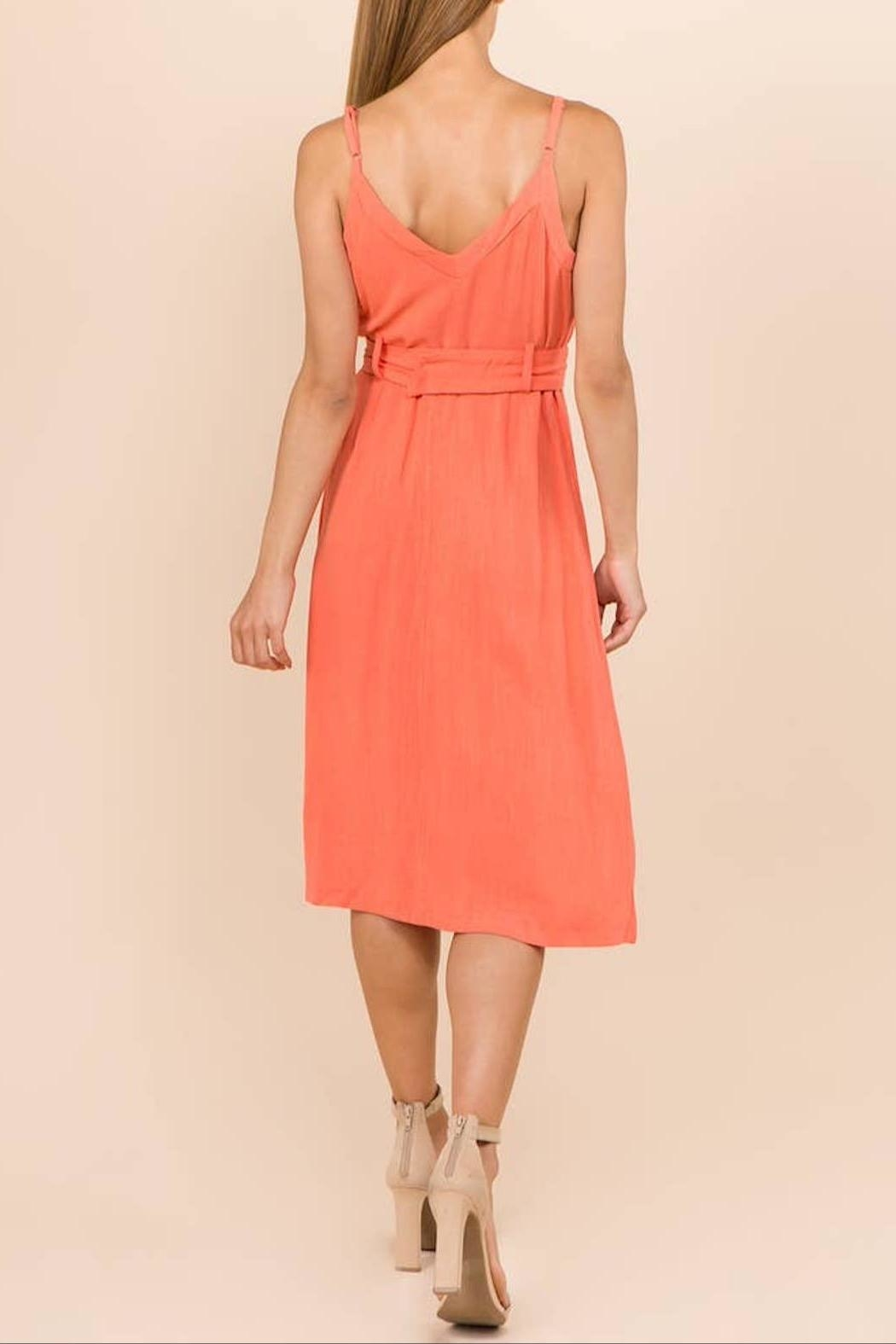 WINSLOW Linen Midi Dress - Back Cropped Image