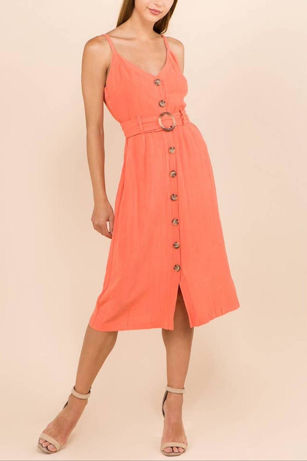 WINSLOW Linen Midi Dress - Main Image