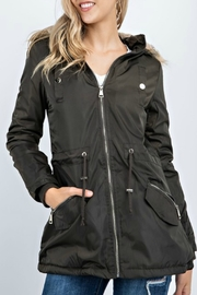 12pm by Mon Ami Winter Coat with Faux Fur Trim Hood - Product Mini Image